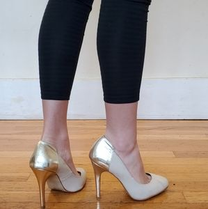 Aldo Gold Cream Hi Heels